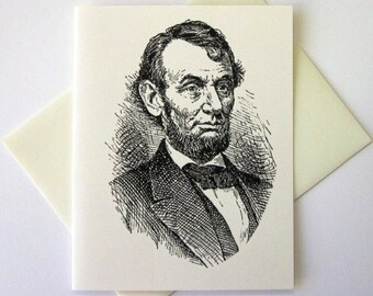 Abraham Lincoln Note Cards Stationery Set of 10 Cards