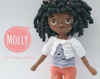 Molly - Crochet Amigurumi Doll Pattern -  PDF download