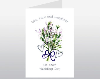 Scottish Wedding Card Heather WWWE49