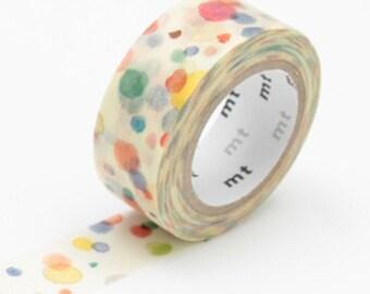Aquarelle à pois washi tape - MT pour les enfants «Dix dix» - mt du ruban