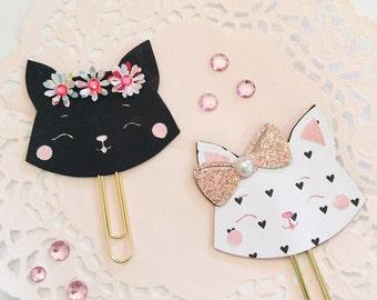 Cute Cat Planner Clip ~ Page Clip ~ Bookmark