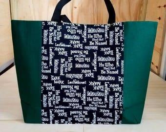 Large Green Harry Potter Tote Bag