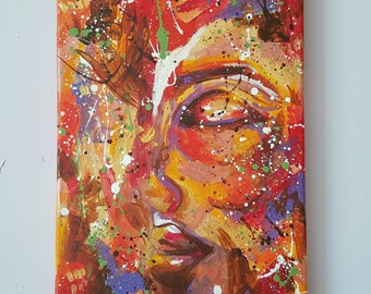 "Sweet Dreams Original Abstract Acrylic Painting 8 x 12"""