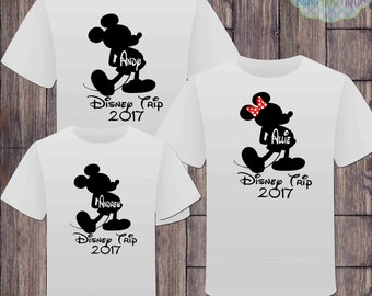 Matching Disney Family Vacation Tshirts - Mickey Minnie Mouse - Disney Inspired - Matching Vacation Shirts - Minnie Mouse