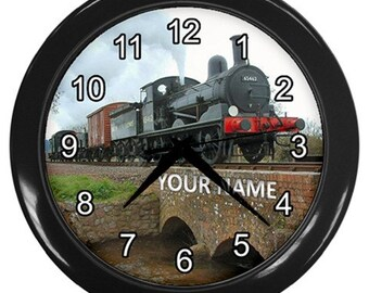 Personalized Steam Engine Locomotive D32, Collection Gift Wall Clock