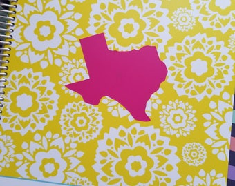 Dark Pink Texas Decals 3-pack