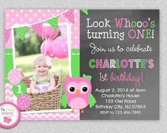 Owl Birthday Invitation Owl Birthday Party Invitation Girls