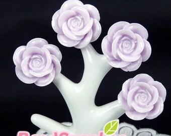 CA-CA-06203 -  Peony cabochon, lilac ,6 pcs