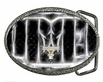Maserati Grill Emblem Image Belt Buckle - Photography Jewelry