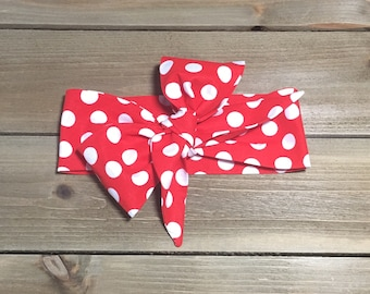 Rosie the Riveter Headwrap- Red Headband; Polka Dot Headband; Red Headwrap; Polka Dot Headwrap; Red Bow; Polka Dot Bow; Big Bow Headwrap