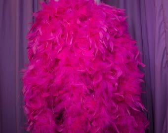 feather bustle skirt knee length, burlesque costume, show girl, strip tease