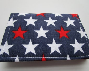 Wallet, Minimalist Wallet, Business Card Holder, Travel Wallet, Business Card Case, Small Wallet, Bifold Wallet, AMERICAN FLAG, Card Wallet