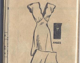 Vintage 40s Nightgown Pattern-  Anne Adams Mail Order- Bust 38