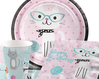 Adorable Purrfectly ...  sc 1 st  Etsy & Celebration plates | Etsy