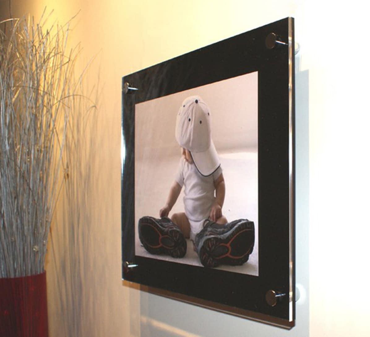 Black high gloss Cheshire acrylic 10mm 12 x 18 / 30 x 45 cm /18 x 12 ...
