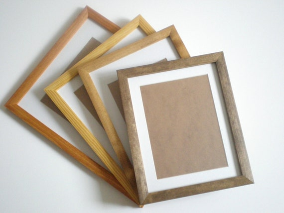 Picture frame Rustic frame 16x20 dark wood photo frame 40x50cm