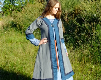 Early medieval coat for woman, viking, slav, reenactment
