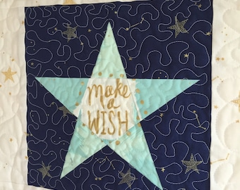 Land of Magic Crown and Star PDF Paper Piecing Pattern