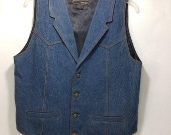 Mavericks Vintage Biker mens waistcoat Western cowboy Style Rodeo country leather handmade suede dark brown 80s 1B0IDkEmD