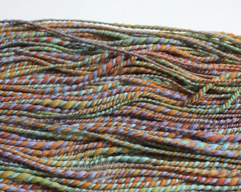 Horizon - hand spun yarn - 90 yards - hand dyed merino wool - bulky wool yarn - 2 ply yarn - chunky knitting - exotic fiber yarn - wool yarn