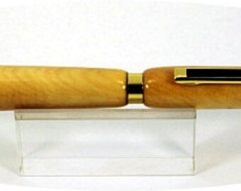 Handcrafted Slimline Pen turned with Huon Pine.