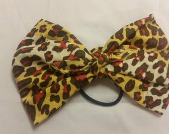 cheetah print bandana bow