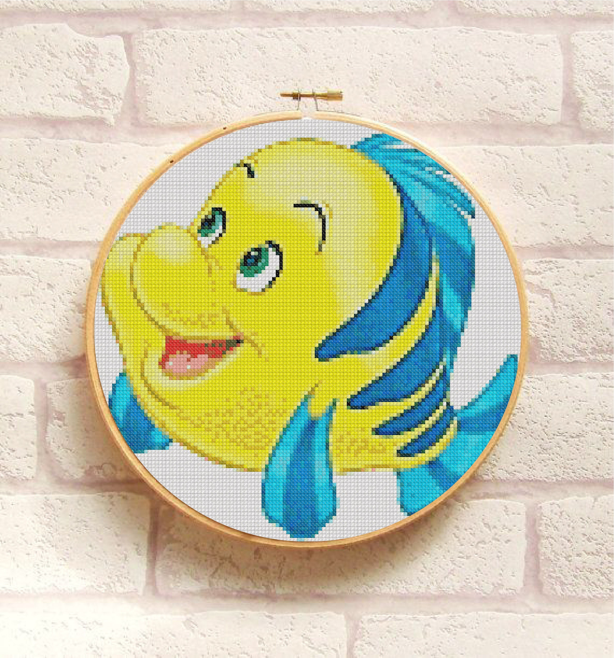 FLOUNDER Cross Stitch Pattern PDF, Embroidery Easy Chart, Cute ...