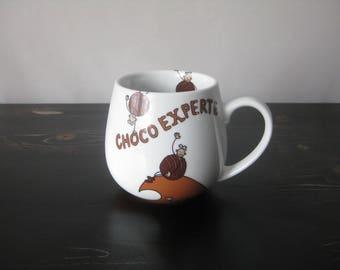 "Konitz ""Choco Experte"" Snuggle Mug / Choco Experte Mug / Konitz Snuggle Mug"