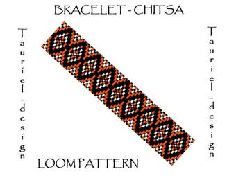 Loom pattern - native american inspired bracelet pattern - Chitsa