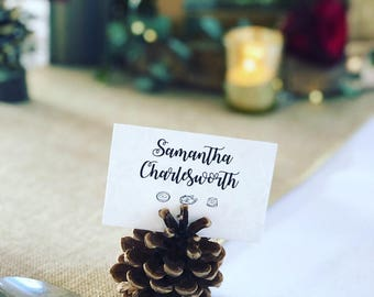50 name cards with reversable design