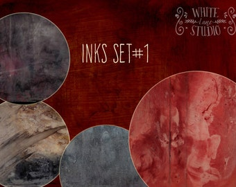 Inks Photoshop Textures Overlays Set-1