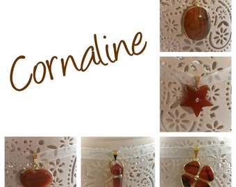 Carnelian good luck charm pendant necklace