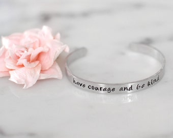 "Have Courage and Be Kind ""Cinderella"" Handmade Bracelet 