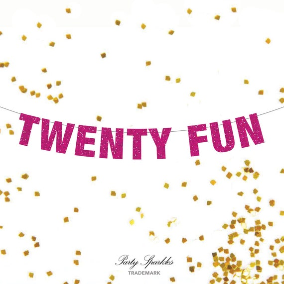 Twenty Fun 21st Birthday Banner 21st Birthday Photo Prop 21