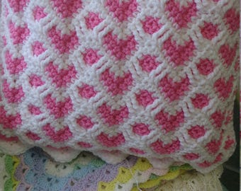 Valentines sweetheart reversible ripple Cushion