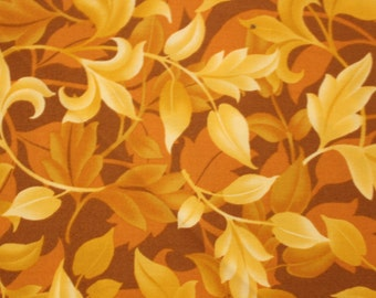 Jacobean Rhapsody by Patricia B. Campbell for Timeless Treasures  JS Stock , Leaves, Quilting Fabric, Sold by the Half Yard