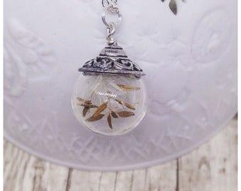 Dandelion Seed Necklace, Dandelion Necklace, Real Flower Jewellery, Botanical Jewellery, Dandelions, Ella Rose, Wish,