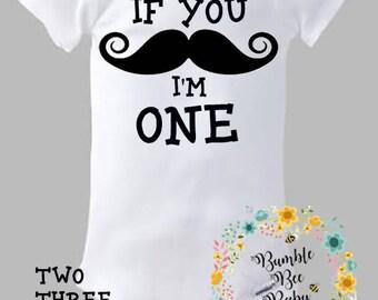 Mustache Birthday, If You Mustache....Onesie or Tee