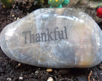 Thankful Engraved energy River Rock