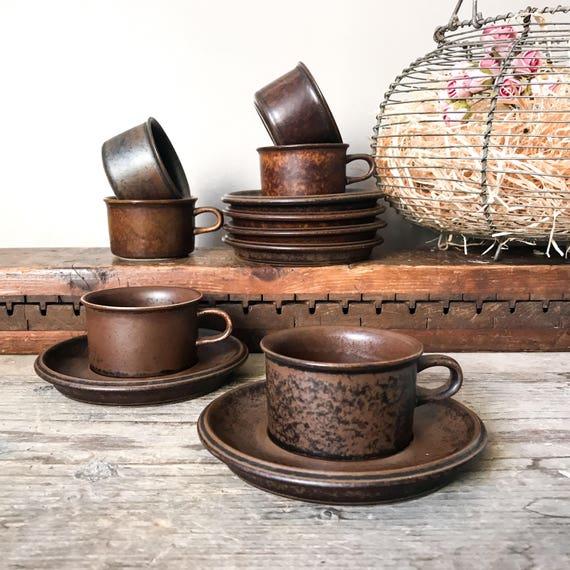 & Vintage Arabia Ruska Espresso cups 70u0027s Mid Century