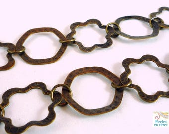 1 m chain original flowers bronze diameter 24mm (ch22)
