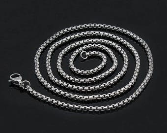 Pack of 10 Stainless Steel  2.5mm*45cm/60cm/80cm DIY Necklace Making Chains for Locket Pendants Making