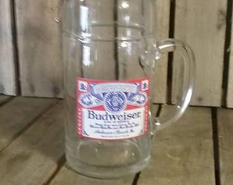 Budweiser Glass Mug