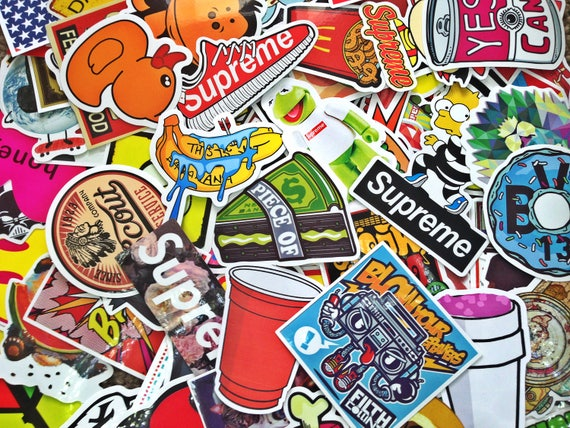 supreme sticker bombing sticker pack laptop stickers bright. Black Bedroom Furniture Sets. Home Design Ideas