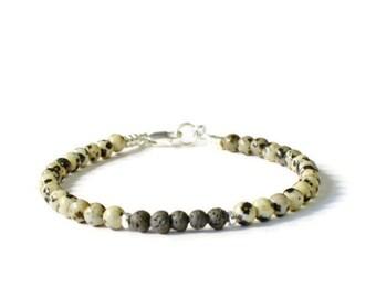 Lava Rock and Dalmation Jasper Aromatherapy Essential Oil Diffuser Bracelet