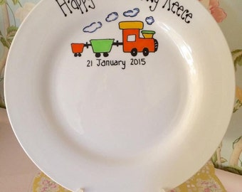 Personalised Signature Birthday Plate