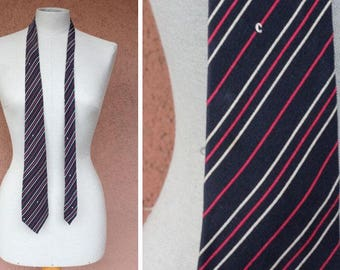 Vintage Pierre Cardin Striped Silk Tie