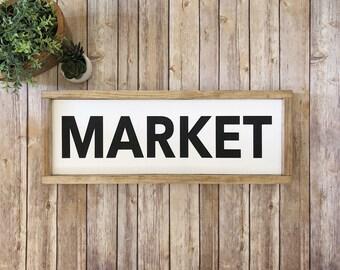 Market Sign | Kitchen Sign | Pantry Sign  |  Bakery Sign | Coffee Sign | Farmhouse Decor | Kitchen Decor
