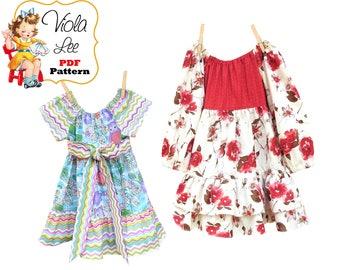 Girls Peasant Dress Pattern. Toddler Dress Pattern. Girls Sewing Pattern pdf. Long Sleeve Dress Pattern. Toddler Sewing Pattern Beatrice