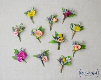 Succulent Boutonniere, Boho Boutonniere, Boutonnieres, Boutonniere Set, Faux Boutonniere, Faux Flowers, Mix and Match Boutonnieres, Bohemian